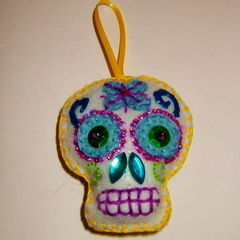 Day Of The Dead Felt Sugar Skull Tutorial