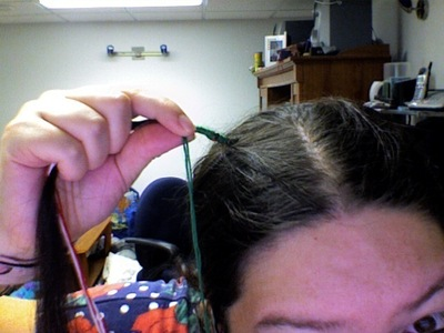 How to make a hair accessory. Holiday Hair Wrap - Step 4