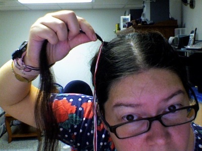 How to make a hair accessory. Holiday Hair Wrap - Step 3