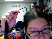 How to make a hair accessory. Holiday Hair Wrap - Step 6