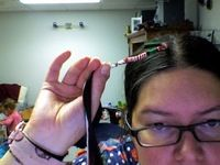How to make a hair accessory. Holiday Hair Wrap - Step 7