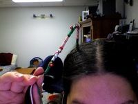 How to make a hair accessory. Holiday Hair Wrap - Step 8