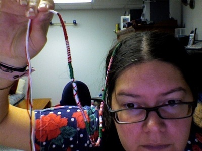 How to make a hair accessory. Holiday Hair Wrap - Step 9