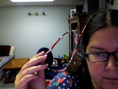 How to make a hair accessory. Holiday Hair Wrap - Step 10