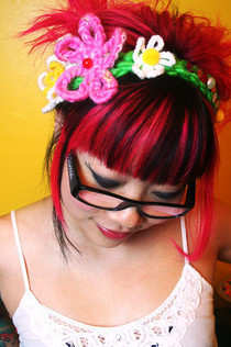 Crochet Daisy Headband