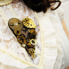 Steampunk Head And Heart Chest Pieces