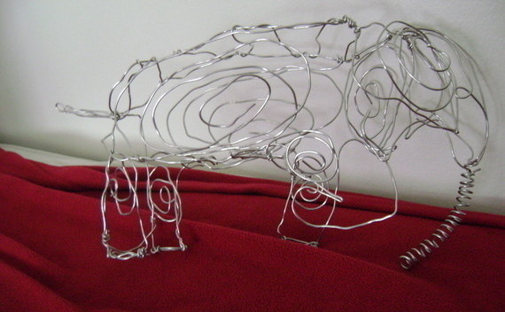 Wire Sculpture Elephant