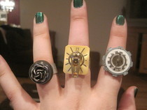 Steampunk Inspired Rings