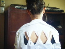 The Diamond Cut Out Blouse