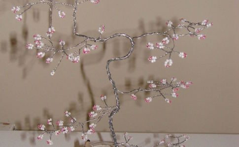 Wire Cherry Blossom Tree Sculptures