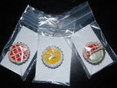 Bottle Cap Pie Magnets