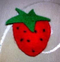Strawberry Felt Brooch