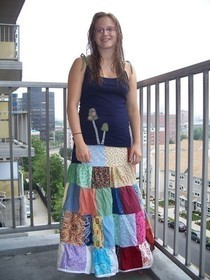 Patchy Spin Skirt