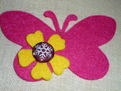 Butterfly Felt Brooch