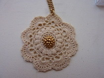 Old Gold Lace Necklace