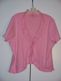 Ruffle Cardi From Old Tee