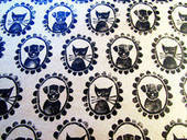 Make A Wallpaper Print With Rubber Stamps