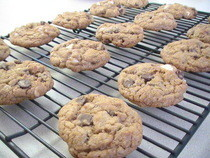Whole Wheat Triple Choco Threat Cookies