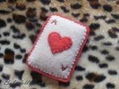 Felt Ace Of Hearts Brooch