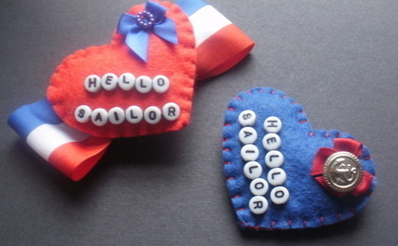 Hello Sailor Felt Pin Brooches