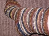 Self Striping Knit Socks