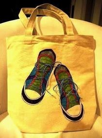 Laced Up Sneaker Tote