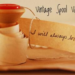Vintage Spool Valentine