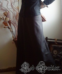 A Line Skirt (Dark Brown)