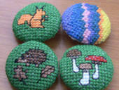 Cross Stitch Covered Buttons