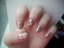 Lace Effect Konad Nails