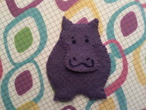 Happy Hippo Bookmark