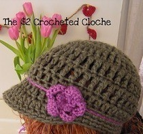 $2 Crocheted Cloche My First Hat Pattern!