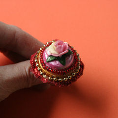 Kitschy Ring Made Of Recyling Materials.
