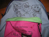 My Pimped Eastpak With Troll Faces