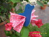 Cardboard Birdie With Origami Paper Wings