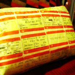 Train Ticket Cushion