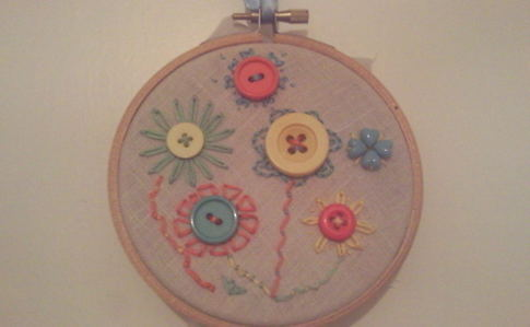 Button Flower Embroidery