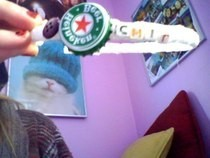 Heineken Bottle Cap & Button Headband