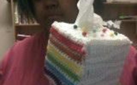 Rainbow Cake Tissue Cozy