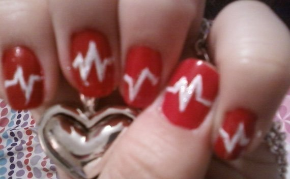 My Heart Beats For(Valentine's Day) Nail Art!
