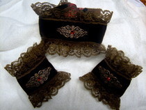 Brown Steampunk Collar And Cuffs