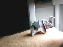 Origami Elephant (From A Lottery Ticket)