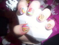 Swirl Nail Art Using Water