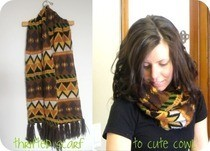 Thrifted Scarf To Cute Cowl Diy