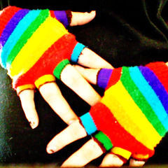 Turn Old Lovable Toe Socks Into Fingerless Gloves