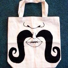 Mustache Hand Bag