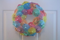Drink Umbrella Wreath