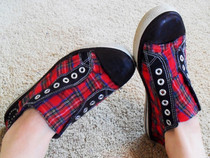 Plaid Punk Sneakers