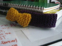 Knitted Hair Band With Bow