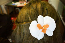 Felt Orchid Vintage Hair Slide
